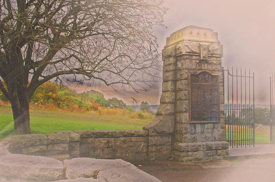 Groton Photograph - Stone Gate by Tom Gari Gallery-Three-Photography