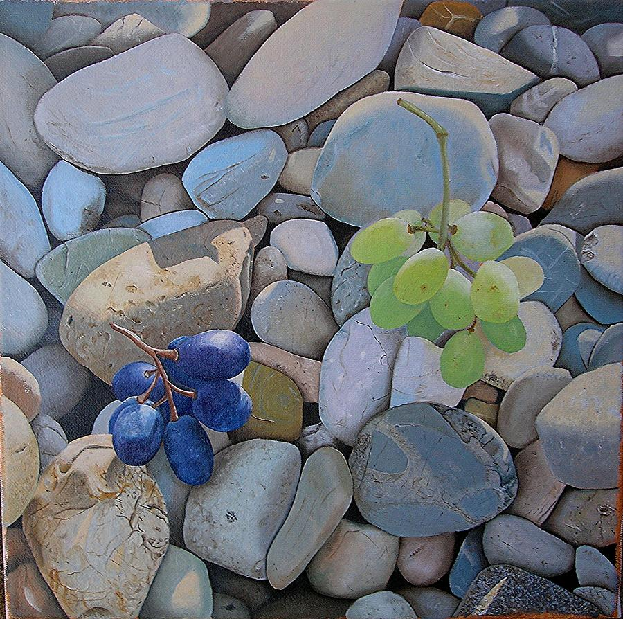 Oil Painting - stone Grape by Kristijan Antunovic