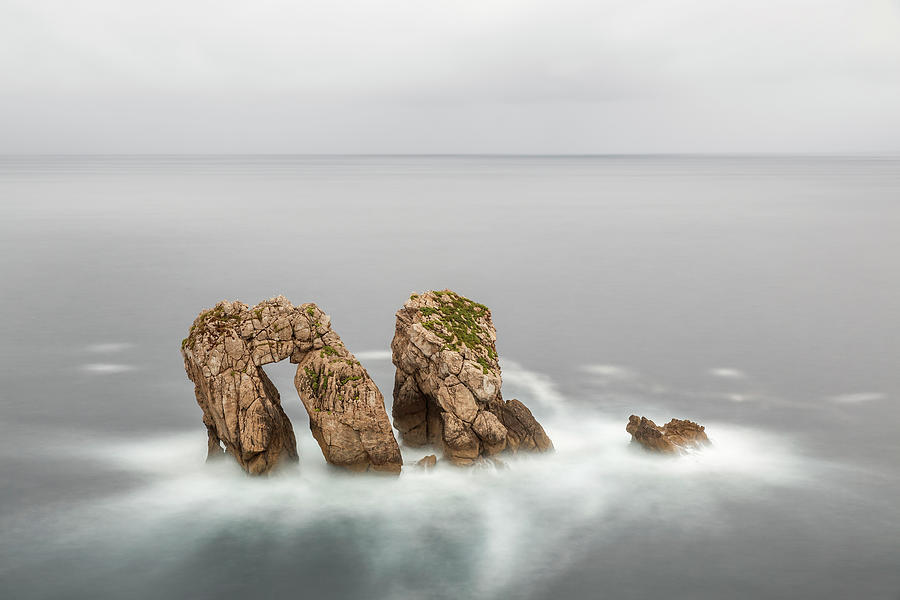 Stone In Sea Photograph by J. Checa Fotografia