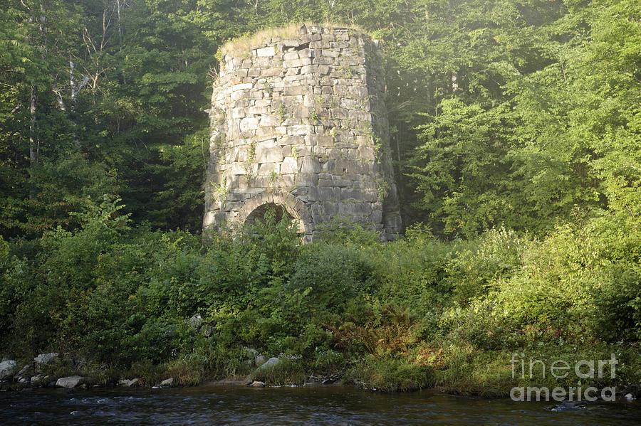 New England Photograph - Stone Iron Furnace - Franconia New Hampshire by Erin Paul Donovan