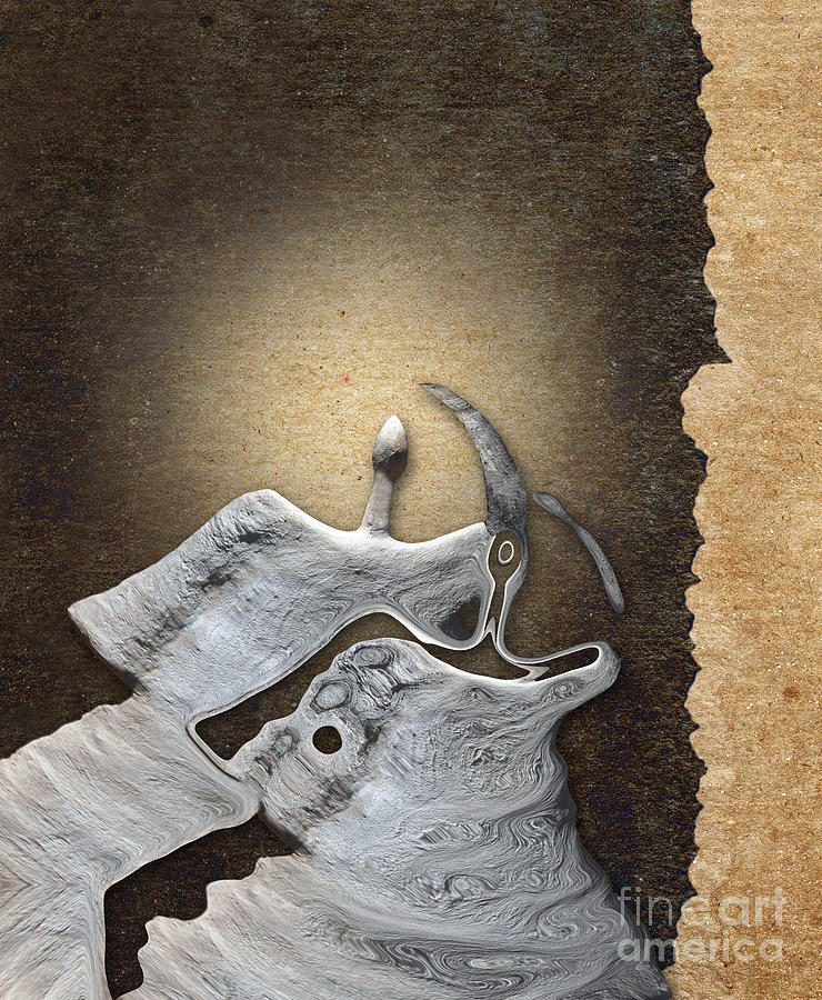 Abstract Realism Digital Art - Stone Men 29 - Love Rythm by Variance Collections