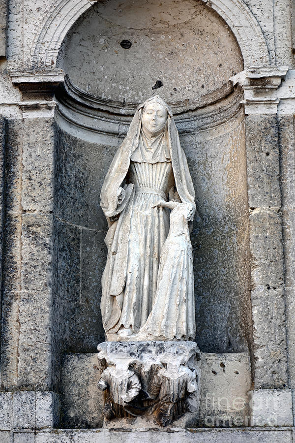 France Photograph - Stone Nun by Olivier Le Queinec