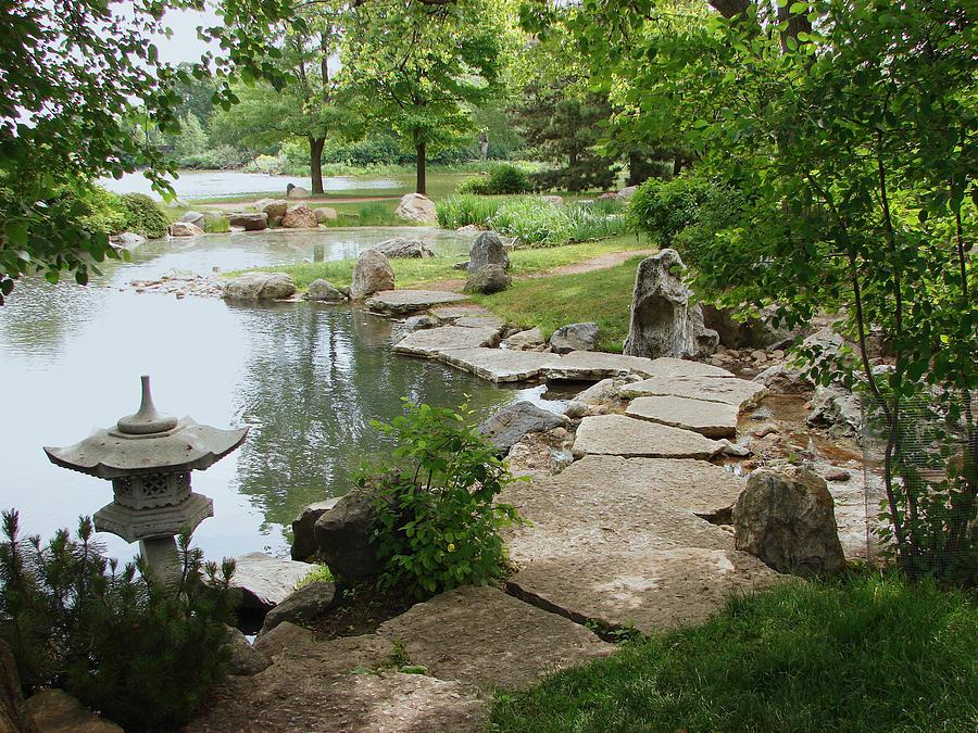 Stone Path In Osaka Japanese Garden Photograph by BJ Karp