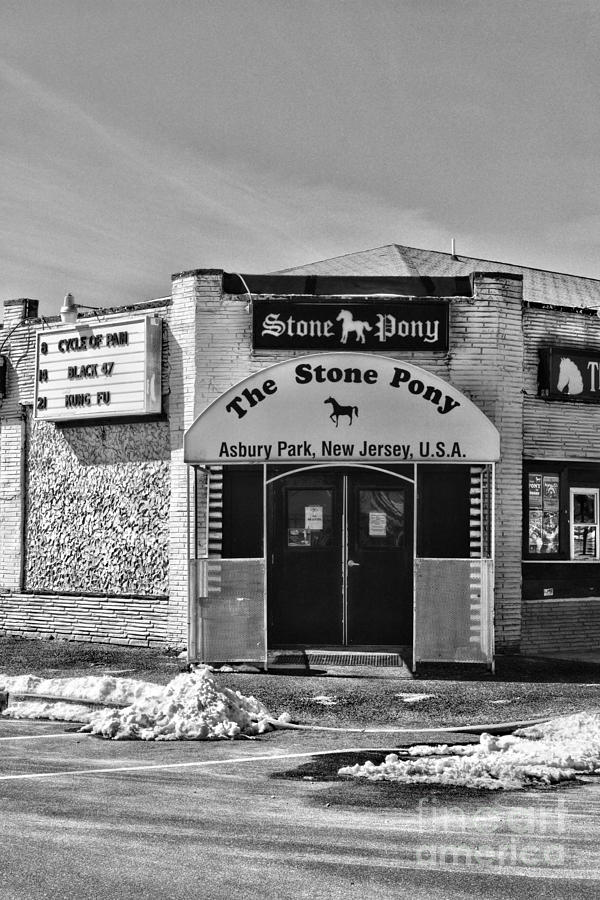 Paul Ward Photograph - Stone Pony In Black And White by Paul Ward