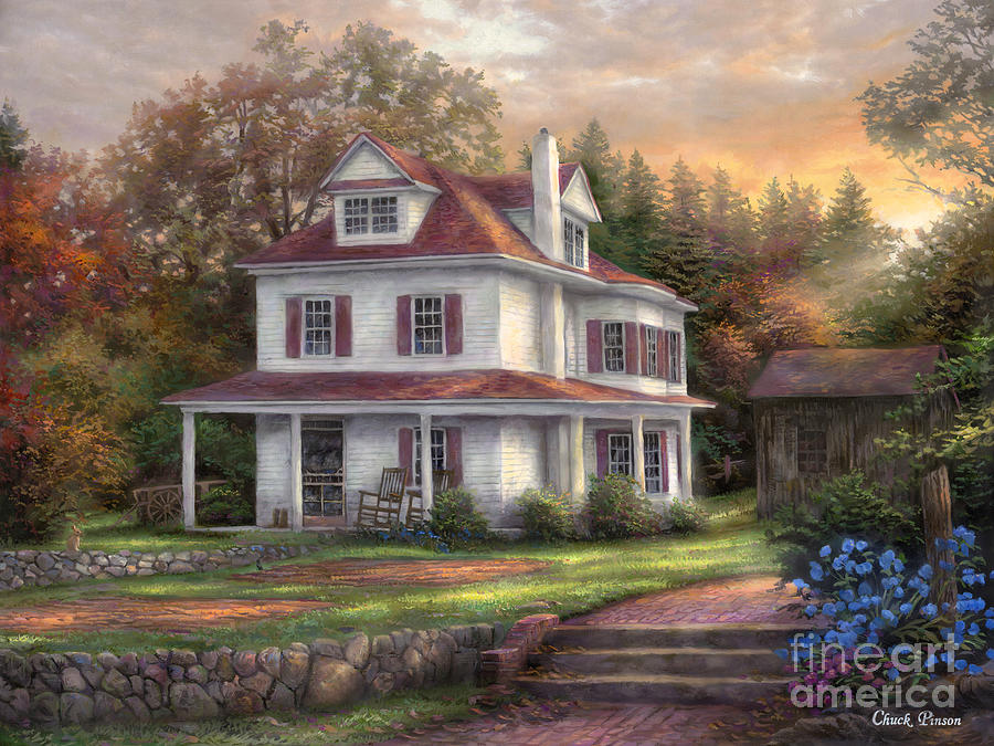 Sale Painting - Stone Terrace Farm by Chuck Pinson