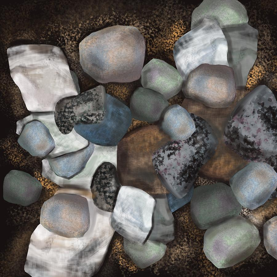 Stones Digital Art - Stone Thoughts by Christine Fournier