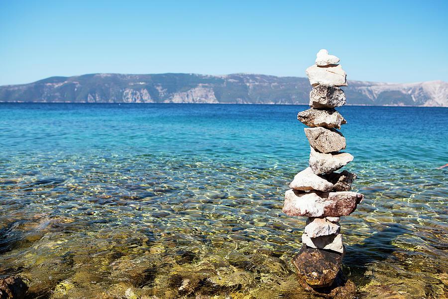 Stone Tower On The Beach Photograph by Gosiek-b