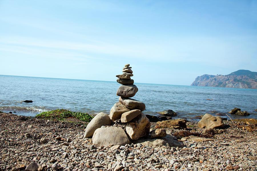 Stone Tower On The Beach Photograph by Mashabuba