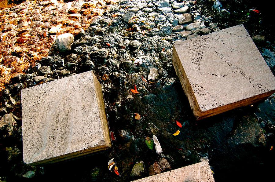 Stone Bridge Photograph - Stone Walking by Yen
