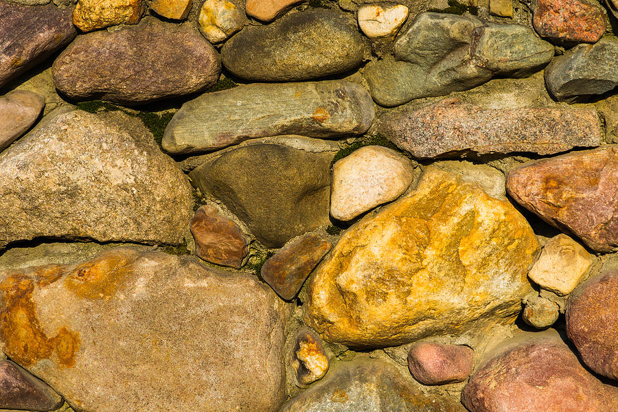 Abstract Photograph - Stone Wall - Featured 3 by Alexander Senin