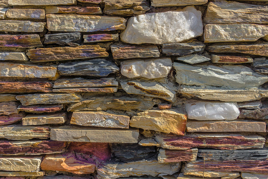 Alpha Photograph - Stone Wall by Paul Donohoe