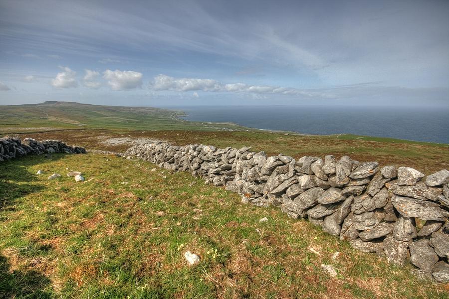 Ballyvaughan Photograph - Stone Walls In The Burren by John Quinn