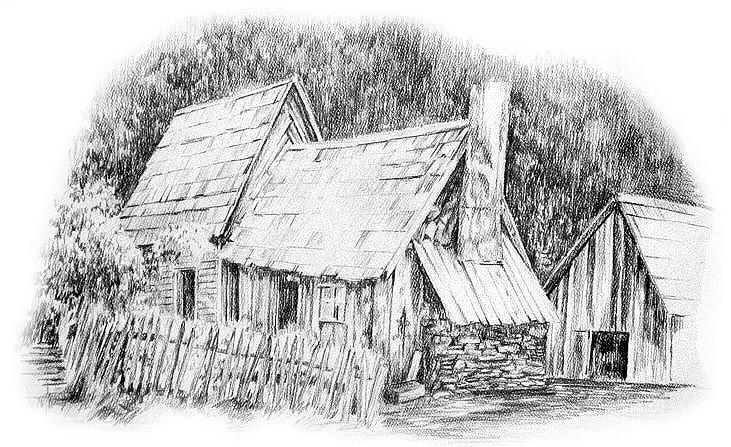 Building Drawing - Stonebreaker by Jonni Hill