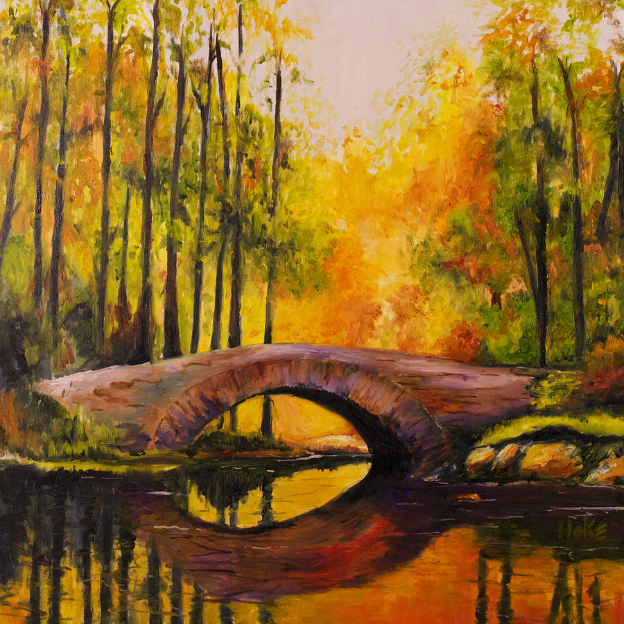 Landscape Painting - Stonebridge by Scott Hoke