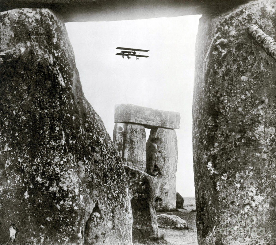 Archeology Photograph - Stonehenge 1914 by Science Source