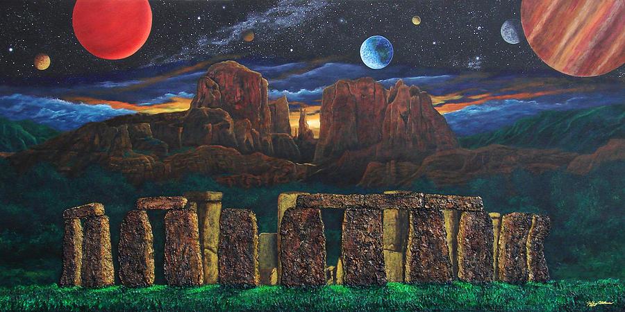 Sedona Painting - Stonehenge At Cathedral Rock by Jeffrey Oldham