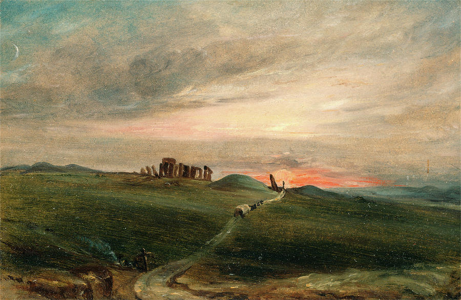 Draftsman Painting - Stonehenge At Sunset, After John Constable by Litz Collection