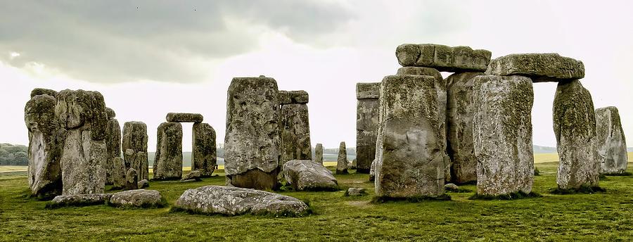 England Photograph - Stonehenge Panorama by Jon Berghoff