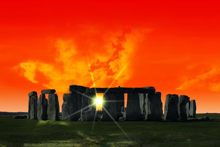 Stonehenge Photograph - Stonehenge Solstice by Daniel Hagerman
