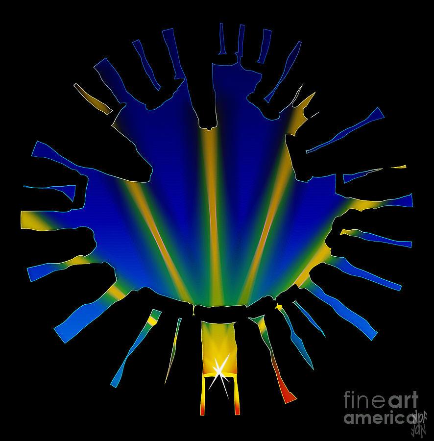 Solstice Digital Art - Stonehenge Solstice by Neil Finnemore