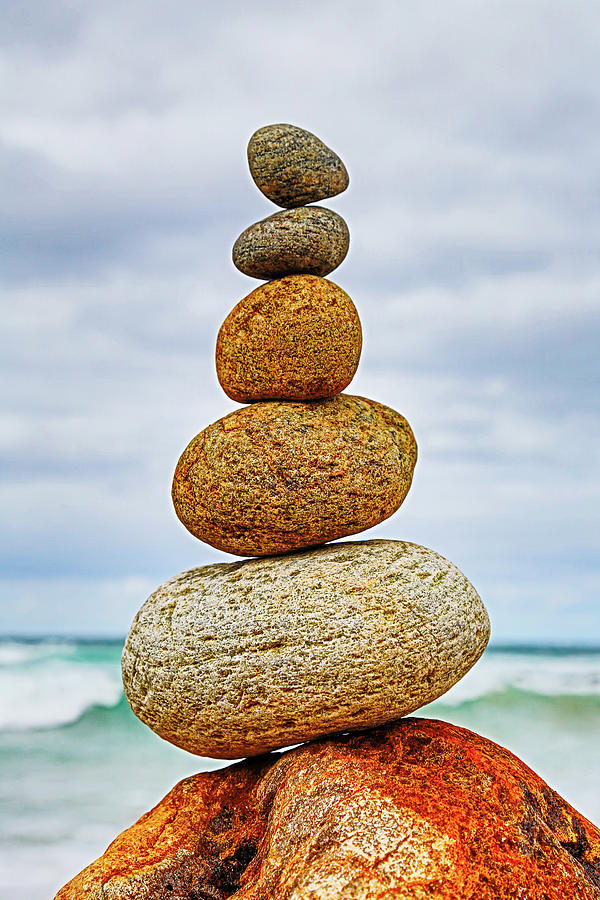 Stones Balancing On Top Of Each Other Photograph by John White Photos