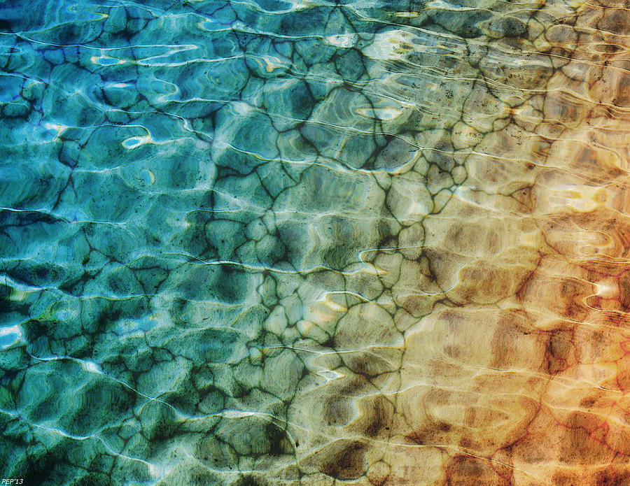 Sand Photograph - Stones In The Sea by Phil Perkins