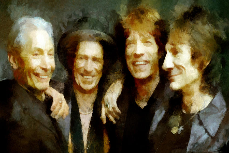 Rolling Stones Painting - Stones by Thomas Haas