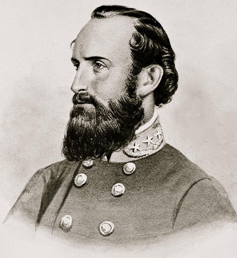 Stonewall; Jackson; General; Confederate; Cavalry; Civil; War; South; Military; 1863 Photograph - Stonewall Jackson Confederate General Portrait by Anonymous