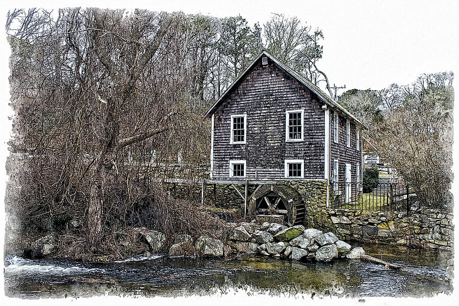 Brewster Photograph - Stony Brook Gristmill by Constantine Gregory