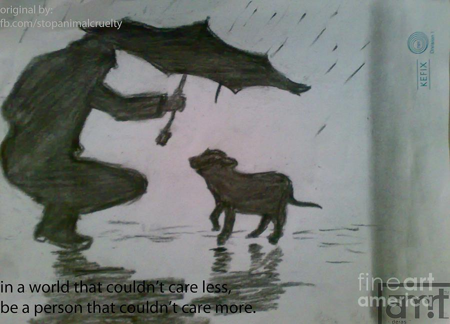Stop Animal Cruelty Drawing by Amwrit Puri
