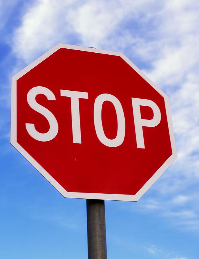 Close Up Photograph - Stop Sign Ireland by The Irish Image Collection