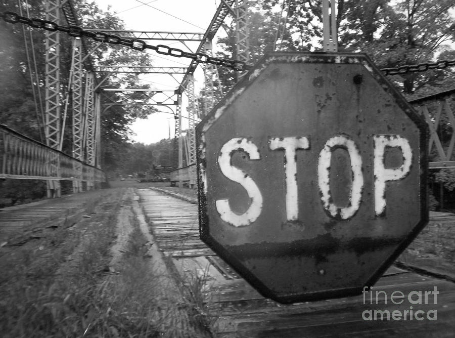 Stop Sign Photograph - Stop Sign by Michael Krek