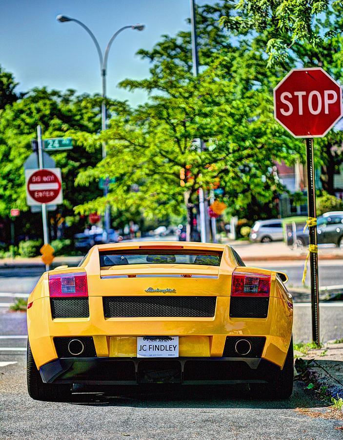 Lamborghini Photograph - Stop Signs Are Wrong by JC Findley