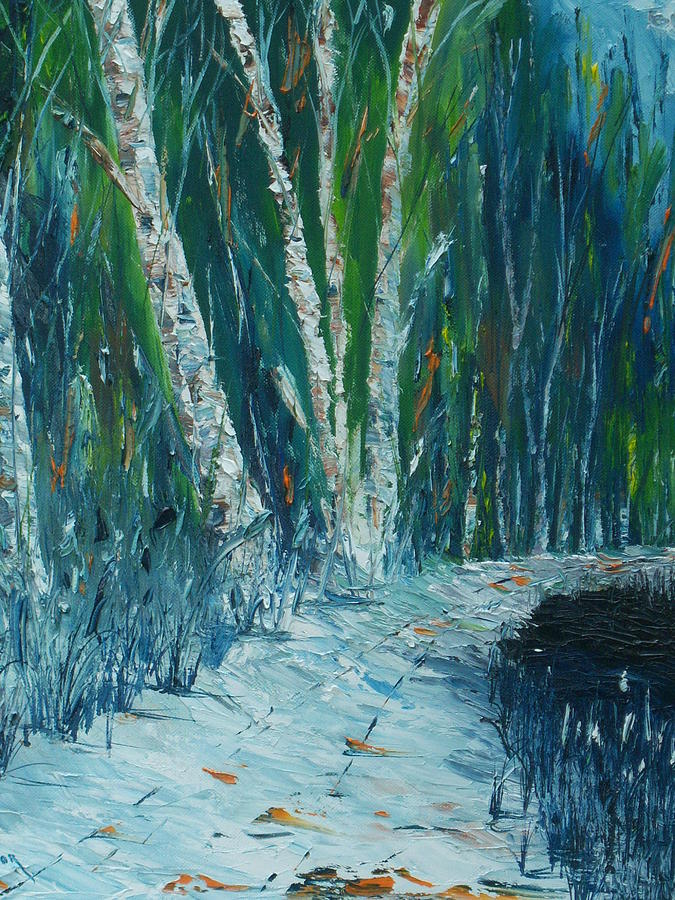 Robert Frost Painting - Stopping By Woods On A Snowy Evening by Conor Murphy