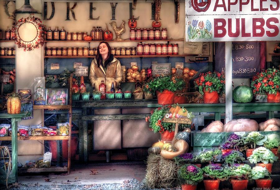 Savad Photograph - Store - Dreyers Farm by Mike Savad