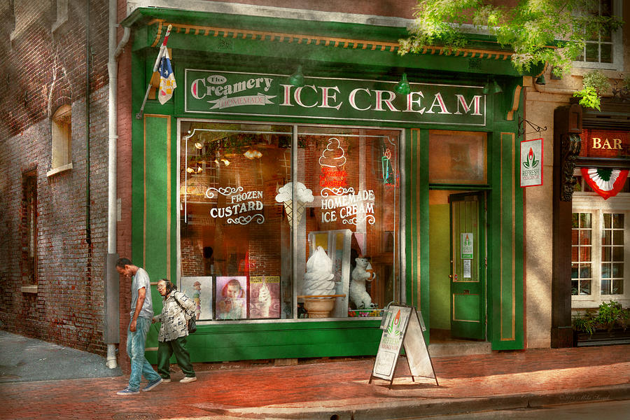 Alexandria Photograph - Store Front - Alexandria Va - The Creamery by Mike Savad