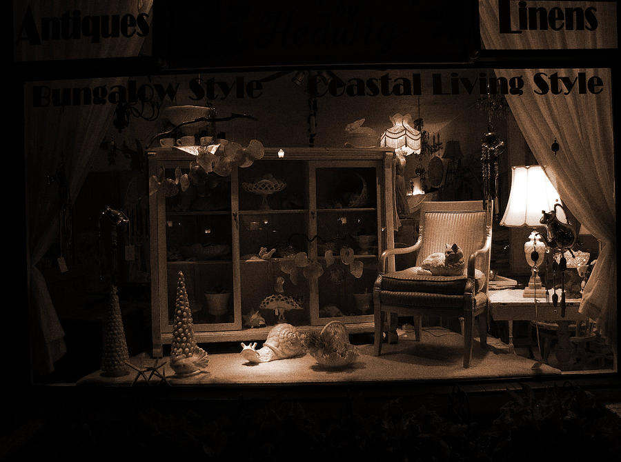 Phil Photograph - Store Window At Night by Phil Penne