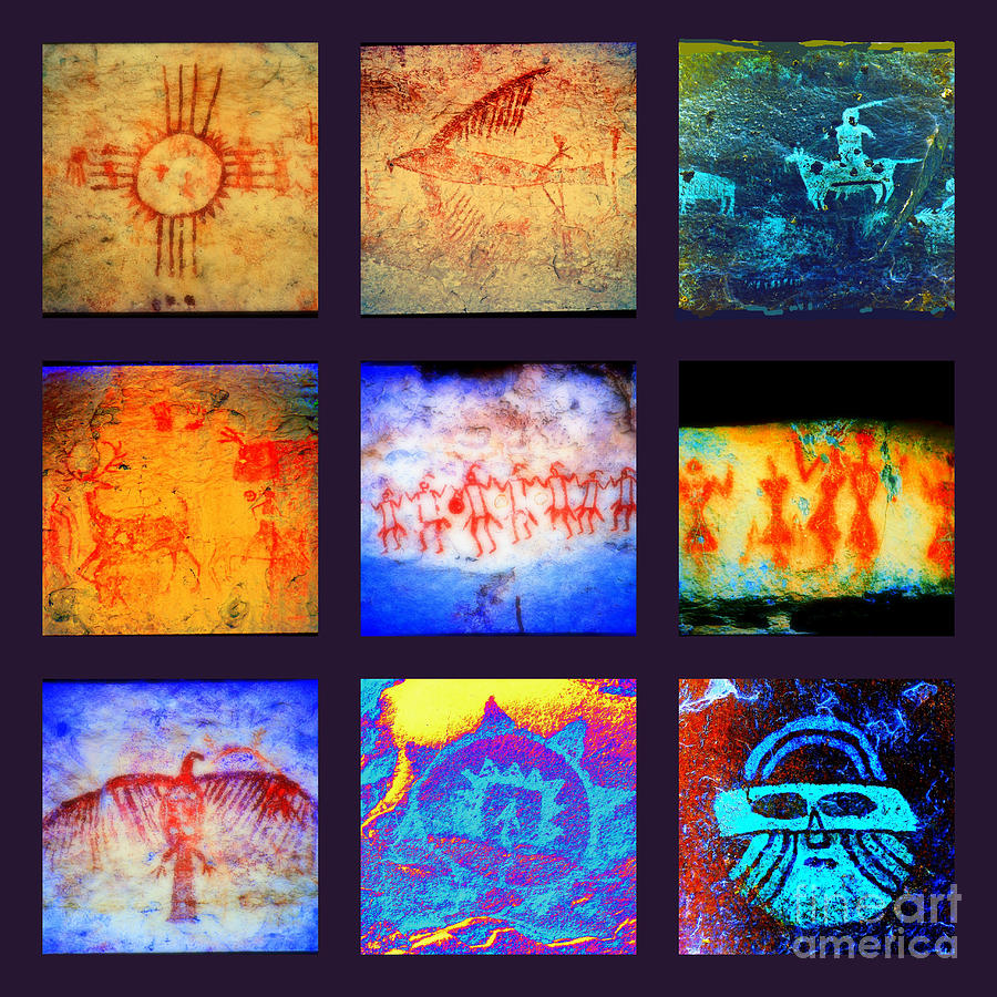 Pictographs Photograph - Stories On Stone by Joe Jake Pratt