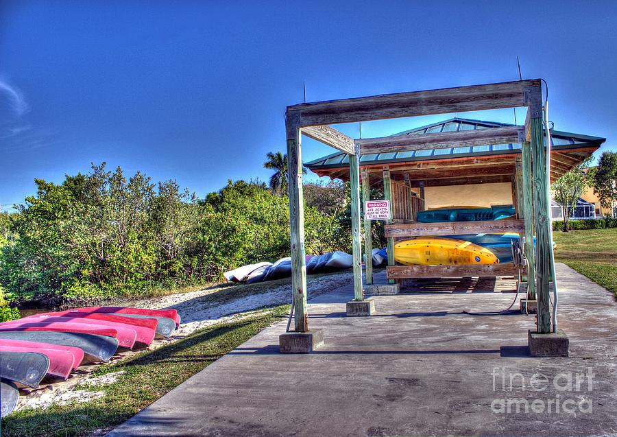 Hollywood Photograph - Storing The Canoes by Ines Bolasini