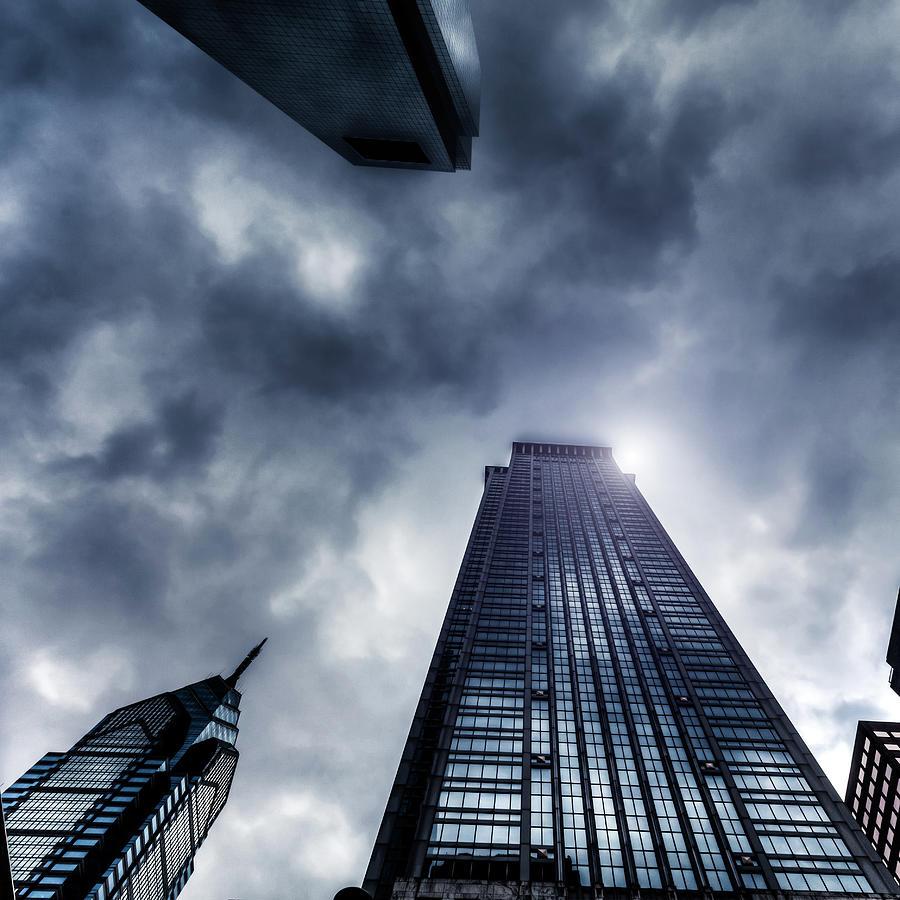 Storm And Skyscrapers, Philadelphia, Usa Photograph by Zodebala