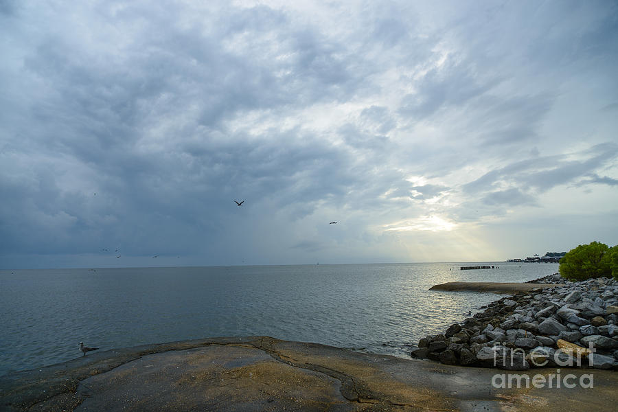 Mobile Bay Photograph - Storm At Big Mouth by Russell Christie