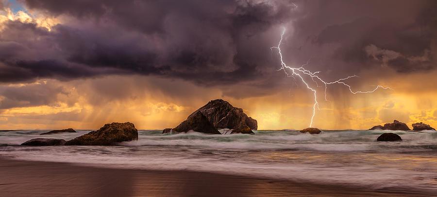 Storm At Face Rock Photograph