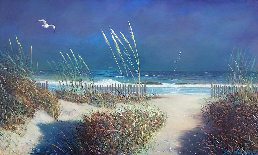 Storm Painting - Storm At Sea by Blue Sky