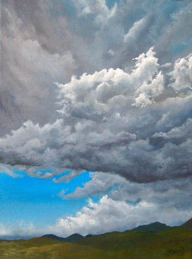 Storm Painting - Storm Brewing by Christine Deemer