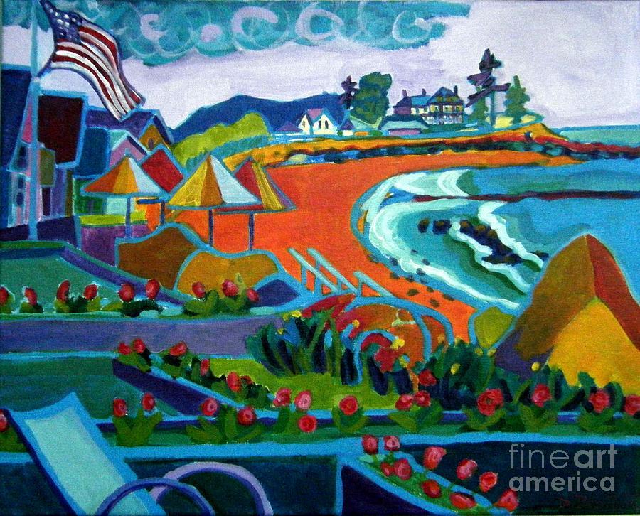 Landscape Painting - Storm Brewing Hampton NH by Debra Bretton Robinson