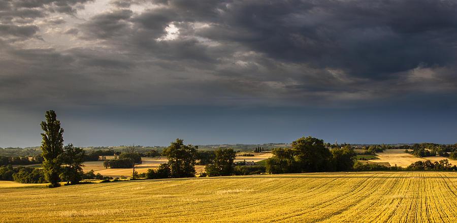 Matthew Photograph - Storm Brewing Over Corn by Matthew Bruce