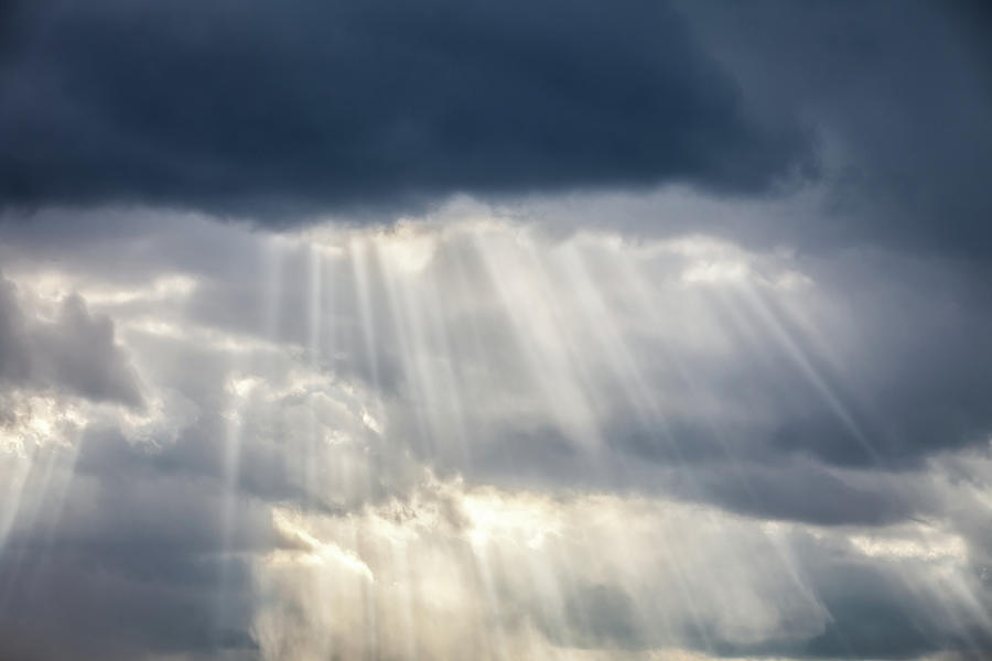 Storm Clouds & Sun Beams Photograph by Ryasick