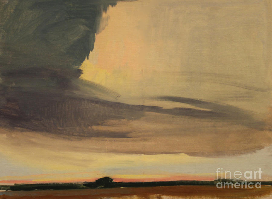 Storm Clouds and Sunset  1940 by Art By Tolpo Collection