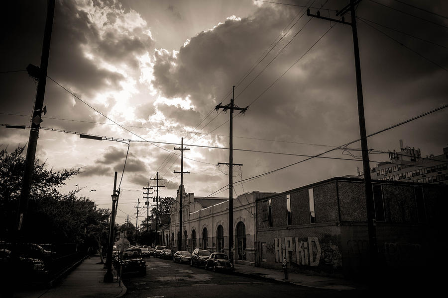 Clouds Photograph - Storm Clouds Over Chartres Street In New Orleans.  by Louis Maistros