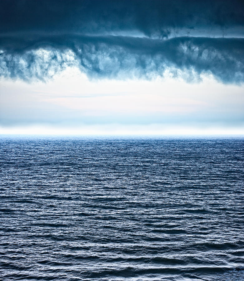 Ocean Photograph - Storm Clouds over Ocean by William Britten